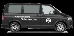 Bei uns können Sie Minibuse für 7 oder 9 Personen mieten